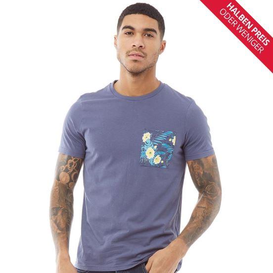 Fluid Herren Druck T Shirt Indigo