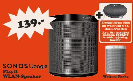Sonos Play1 Google Home Mini