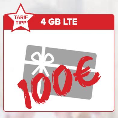 Tarifhaus 4GB LTE 100 Gutschein Titelbild