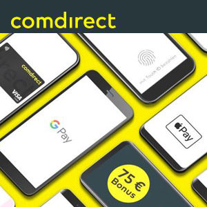 [TOP] 🤑 comdirect Girokonto mit 75€ Prämie via Apple / Google Pay