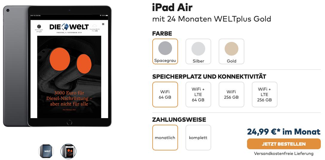 iPad Air mit WELTplus Gold ab 2499 im Monat 2019 06 25 10 41 53