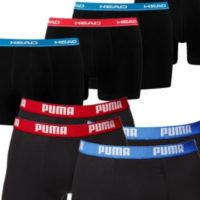 4x Puma  4x Head Basic Boxershorts
