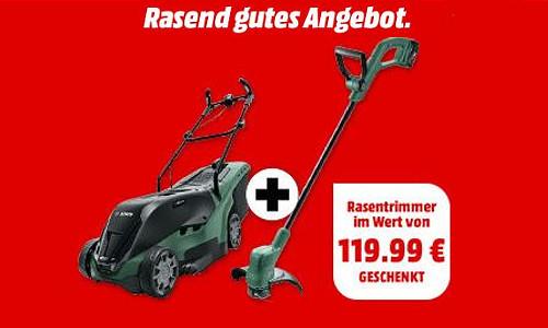 Bosch Bundle Akku Rasenmaeher u Rasentrimmer 1