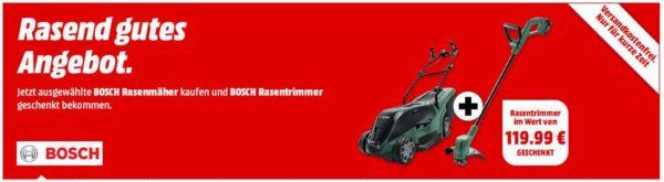 Bosch Bundle Akku   Rasenmaeher u Rasentrimmer