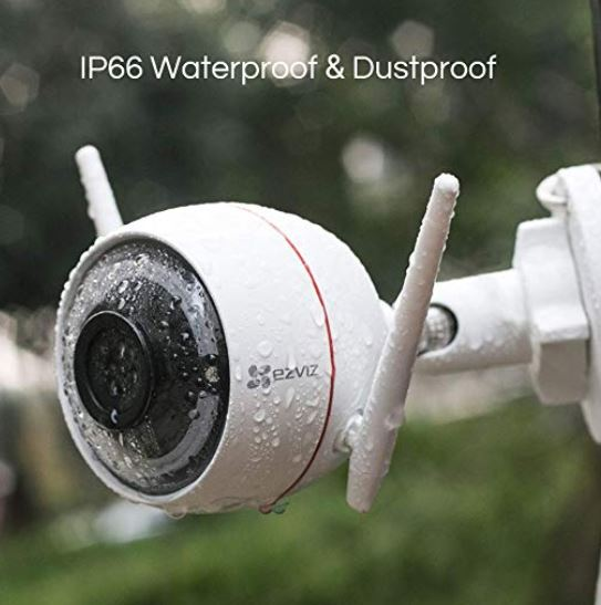 EZVIZ WLAN berwachungskamera mit Licht Sound