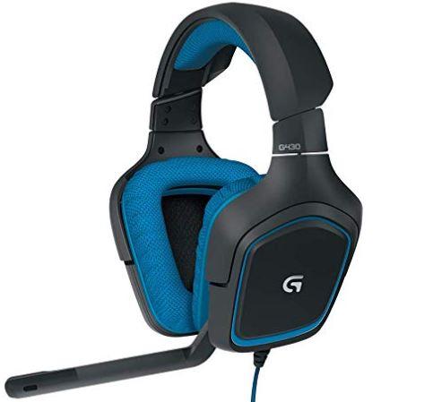 Logitech G430 Gaming Kopfhoerer Dolby 7.1 Surround Sound fuer PC blau