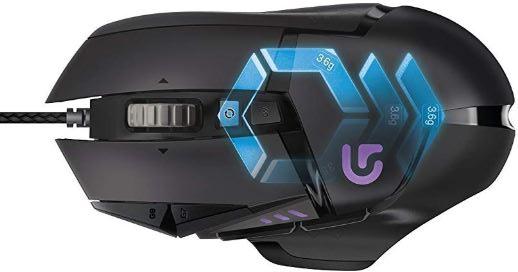 Logitech G502 Proteus Spectrum Gaming Maus mit RBG Anpassung und 11 programmierbaren Tasten 200  12.000 DPI schwarz
