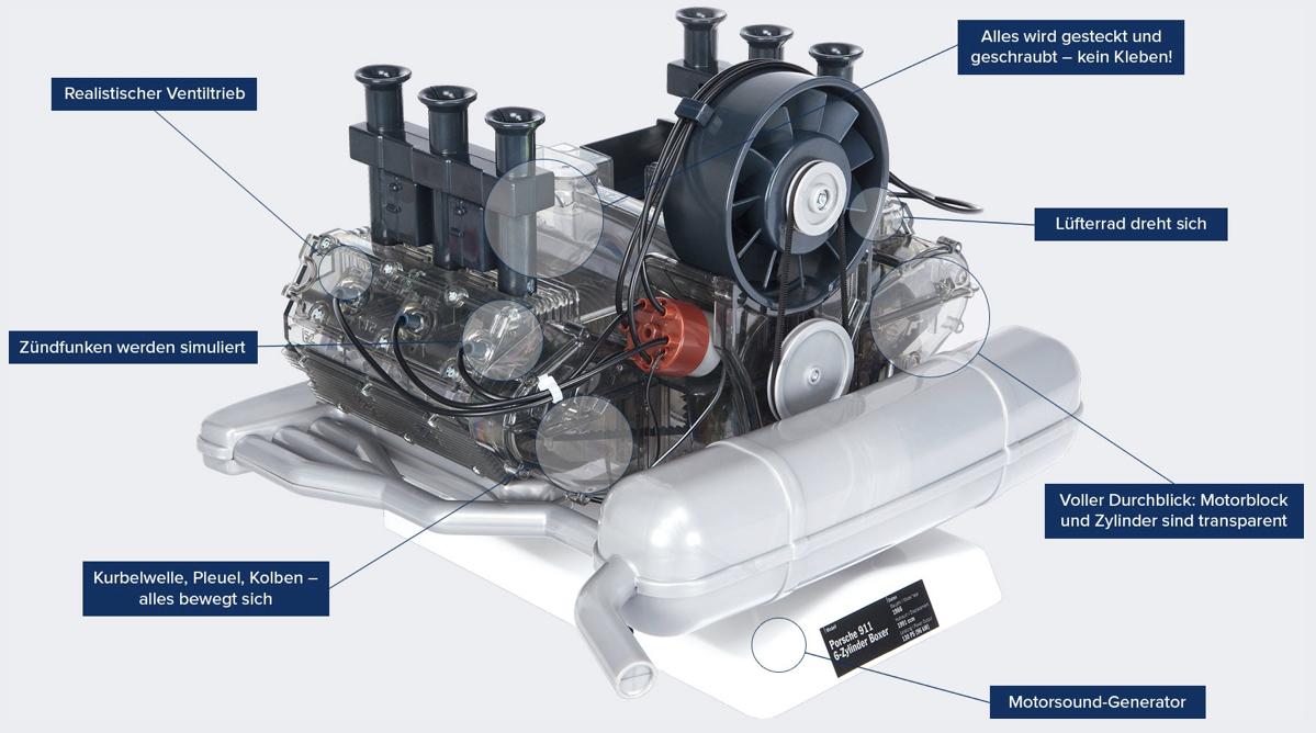Porsche 6 Zylinder Boxermotor FRANZIS www.franzis.de FRANZIS Verlag 2019 07 29 11 17 32