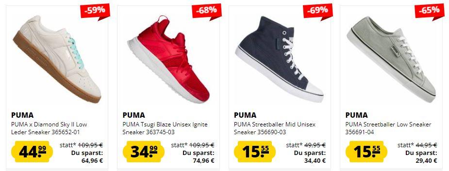 Sportspar: Puma Sneaker Sale </p>                     </div>                     <!--bof Product URL -->                                         <!--eof Product URL -->                     <!--bof Quantity Discounts table -->                                         <!--eof Quantity Discounts table -->                 </div>                             </div>         </div>     </div>              </form>  <div style=