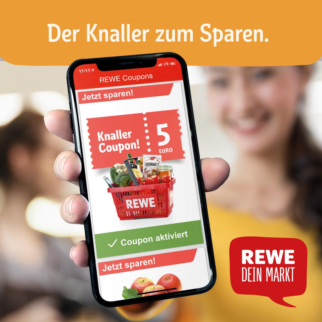 Rewe: 5€ Coupon per App (ab 40€ einlösbar)