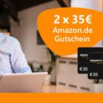 2x 35€ Amazon-GS für Strom- und Gas Anbieterwechsel (via Verivox)