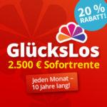 """10 """"GlücksLose"""" mit 2.500€ mtl. Sofortrente 🍀 (gilt auch für BK)"""