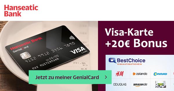 hanseatic genialcard bonus deal