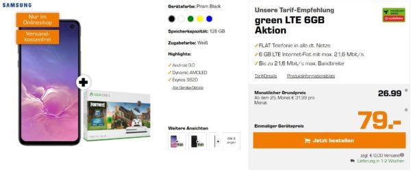 vorbei samsung galaxy s10 xbox one x 8gb lte allnet. Black Bedroom Furniture Sets. Home Design Ideas
