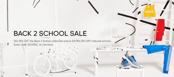 Adidas Back to School 20 Prozent 1