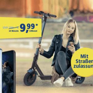E-Scooter mit Straßenzulassung + Allnet-Flat mit bis zu 15GB LTE 🛴