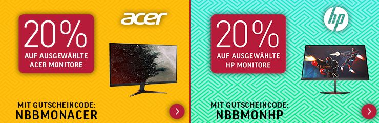 Monitor Special mit 20 Pr Sofort Rabatt BenQ Acer usw. 2