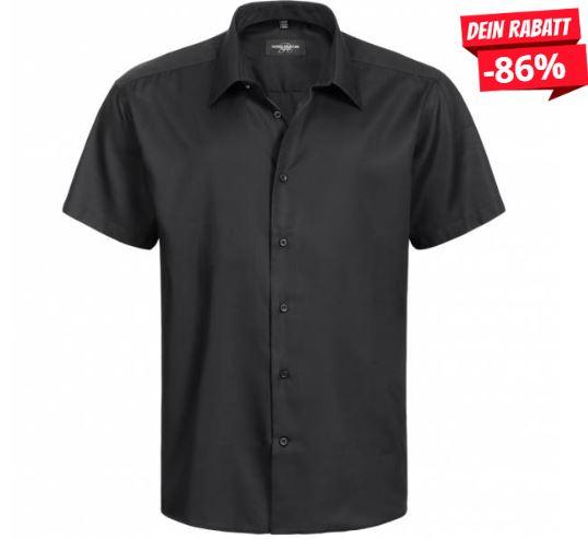 2019 09 02 17 22 31 RUSSELL Short Sleeve Tailored Non iron Herren Hemd 0R959M0 Black   SportSpar