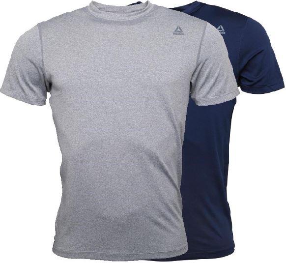 2019 09 04 10 58 35 Reebok Herren Simon Performance Fitted Zwei Pack T Shirt Hellgraumeliert