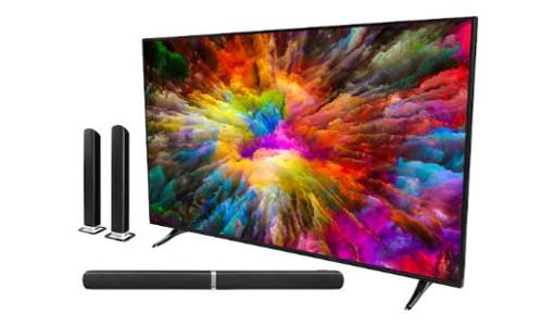 MEDION LIFE X16506 Smart TV 1638 cm 65 Ultra HD HD Triple Tuner HDR DTS Sound WLAN Netflix incl. Soundbar MD80022