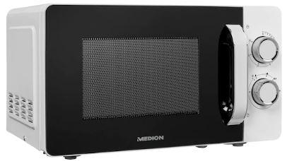 MEDION Mikrowelle MD 18687 700W Leistung 6 Mikrowellen Leistungsstufen 20 l Garraumvolumen kompakt