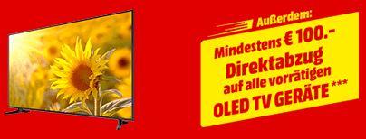 MediaMarkt OLED TVs Direktabzug