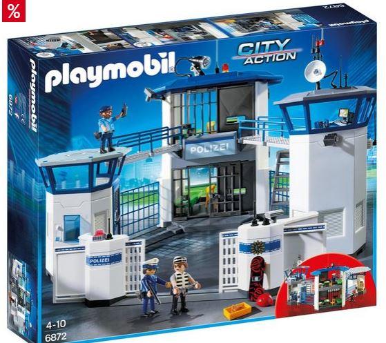 Playmobil Konstruktionsspielsteine Polizei Kommandozentrale mit Gefaengnis 6872 City Action
