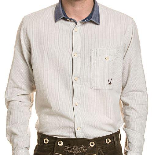 STOCKERPOINT Trachten Hemd Luke aus Leinen cremefarben