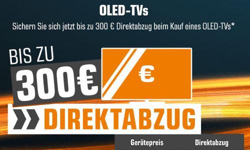 Saturn bis zu 300 Euro auf OLED TVs 1
