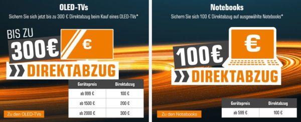 Saturn bis zu 300 Euro auf OLED TVs