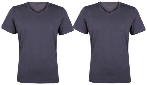 Tom Tailor Herren T Shirt 4er Pack Kurzarm O Neck V Ausschnitt