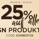 💪 25% Rabatt auf alle ESN Produkte, z.B. 1kg Designer Whey