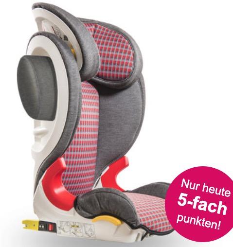Baier Kindersitz Adefix SP Karo graurot