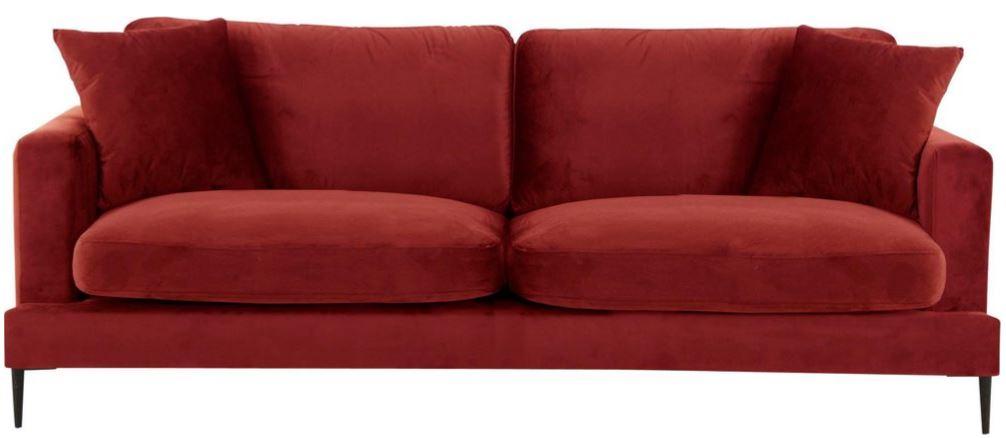 Leonique 3 Sitzer Cozy mit losen Kissen und Metallbeinen 1
