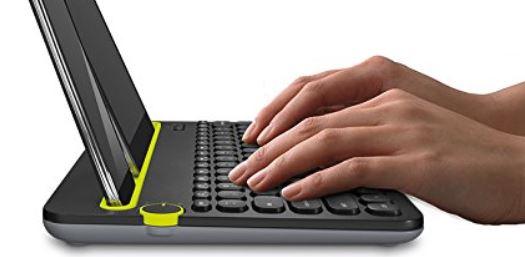 LogitechK480kabelloseBluetooth TastaturfuerComputerTabletundSmartphoneQWERTZschwarz