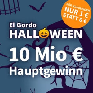 El Gordo Halloween-Lotterie mit 65 Mio. € 🎃🍀 Lose ab 1€ (für Neukunden)