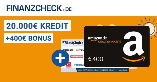 finanzcheck 400 euro bonus