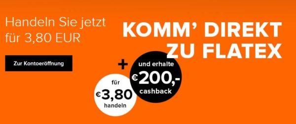 flatex 200 euro cashback