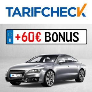 Tarifcheck 💲🚘 60€ Gutschein für den Wechsel der KFZ-Versicherung