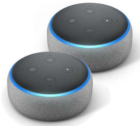 AmazonEchoDot3.GenerationSmart SpeakermitAlexaHellgrauStoff2erPackbeinotebooksbilliger.de2019 11 0717 30