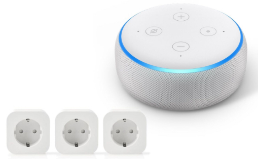 AmazonEchoDot3.GenerationSmart SpeakermitAlexaSandsteinStoffplusNedisWLAN Smart Stecker3er Packbeinotebooksbil2019 11 0717 36