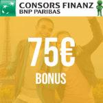 Letzte Chance 🤑 75€ Bonus für die kostenfreie Consors Finanz Mastercard
