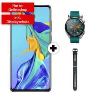 Eff 70€ Ersparnis 📱⌚ o2 Allnet-Flat mit 5GB LTE + Huawei P30 + Watch GT