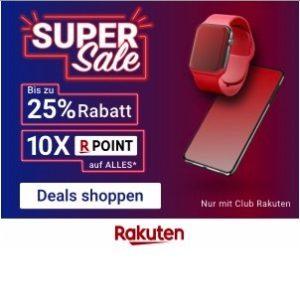 Rakuten Super Sale 2019 mit bis zu 25% Rabatt & 10-fach Superpunkte