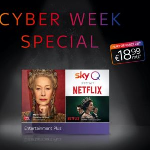 [TOP] 📺 Sky Q + Sky Entertainment + Netflix in HD ab 18,99€ mtl.