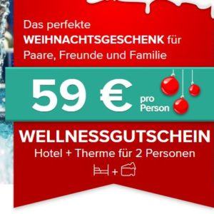 Wellness Kurz-Urlaub 🌴👩❤💋👨 ab 59€ p.P. mit Therme + Hotel nach Wahl