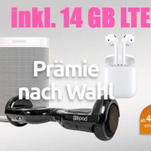 Telekom Allnet mit 14GB LTE 😍 für 19,99€ mtl. + Prämie, z.B. Apple AirPods 2
