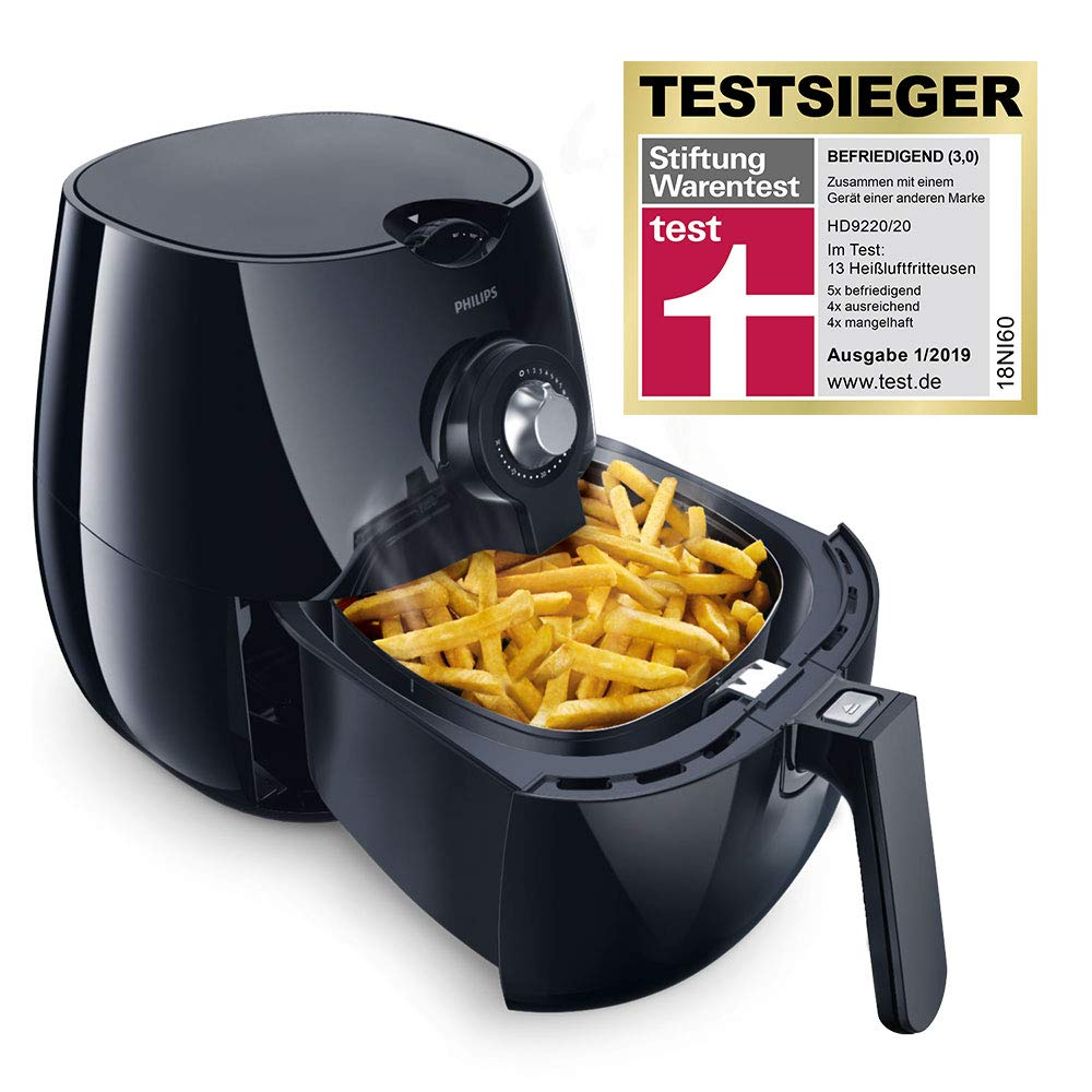 Philips HD9251 Airfryer 🥘 Heißluft-Fritteuse (0,8kg, Rapid Air Technologie)