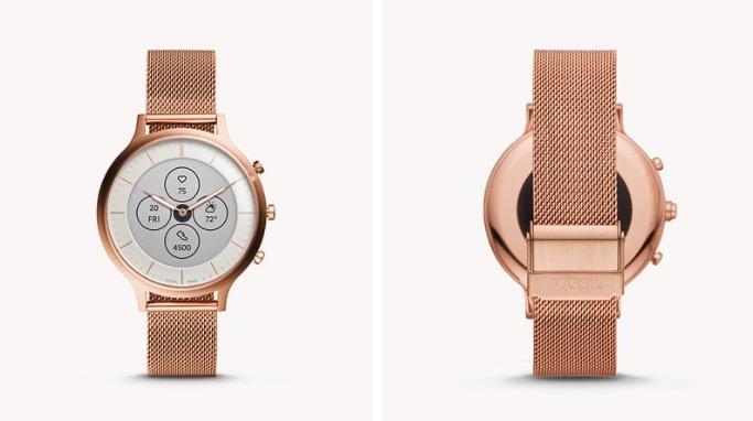 Damen Hybrid Smartwatch Charter HR Edelstahl Rosegold
