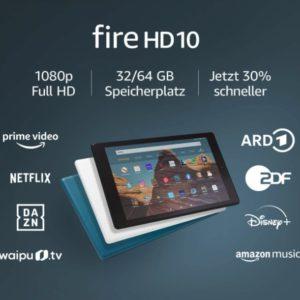 FireHD10-Tablet, Zertifiziert und generalüberholt, 32 GB, Dunkelblau – 10,1Zoll großes FullHD-Display (1080p), mit Spezialangeboten